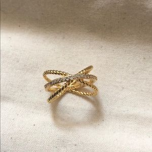 Baublebar Maddie X Ring Cross Ring